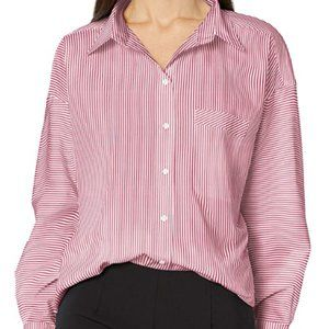 Armani women's classic button up shirt with single